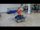 На тренажёре Ромашка Владимир выполняет упражнения имитирующие смену направления движения повороты и развороты