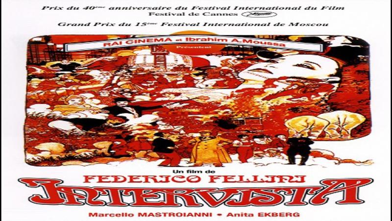 Federico Fellini-Intervista-1987-Federico Fellini Sergio Rubini Paola Liguori Lara Wendel Anita Ekberg Marcello Mastroianni