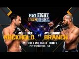 FN116 LUKE ROCKHOLD vs DAVID BRANCH
