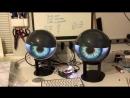 Phil Burgess - Two Gakken WorldEye displays (Japan import), HDMI splitter, Raspberry Pi 3. #Halloween #monsters #rawr