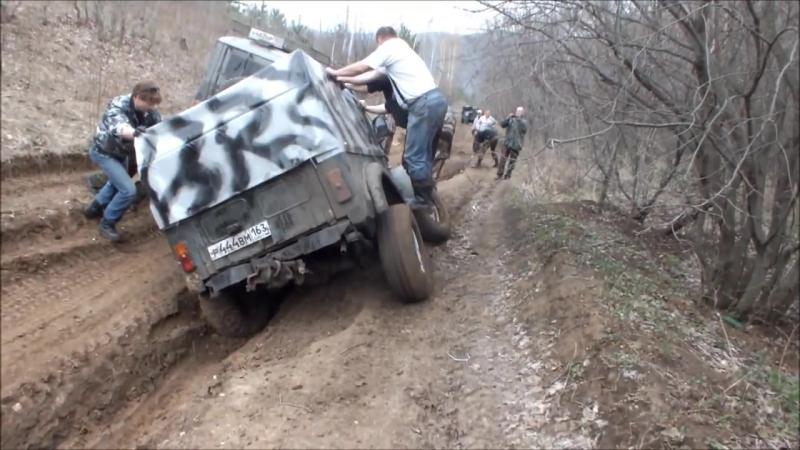 Копия видео UAZ HunterУАЗ 469NIVAГАЗ 69 off road 27.04.2013.
