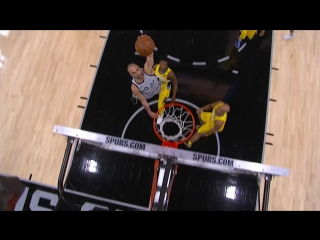 Manu Ginobili One Handed Dunk at 40 Years Old!!! Spurs vs Nuggets January 13, 2018
