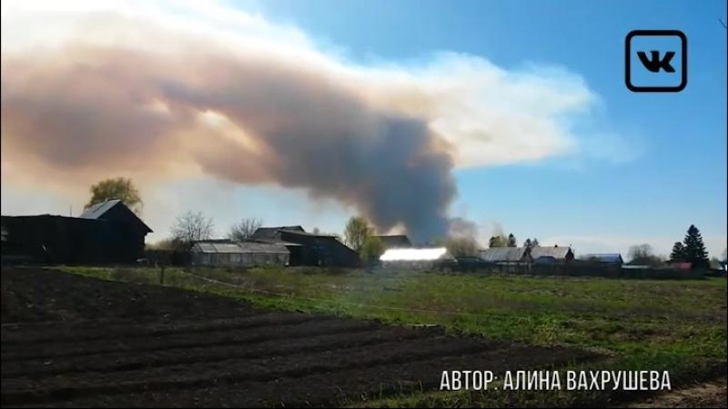 Из за пала травы в бывшей военной части Удмуртии детонируют снаряды