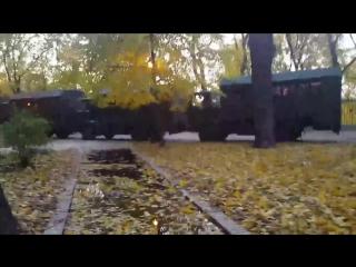 Около 20 автозаков в Мариинском парке Киева