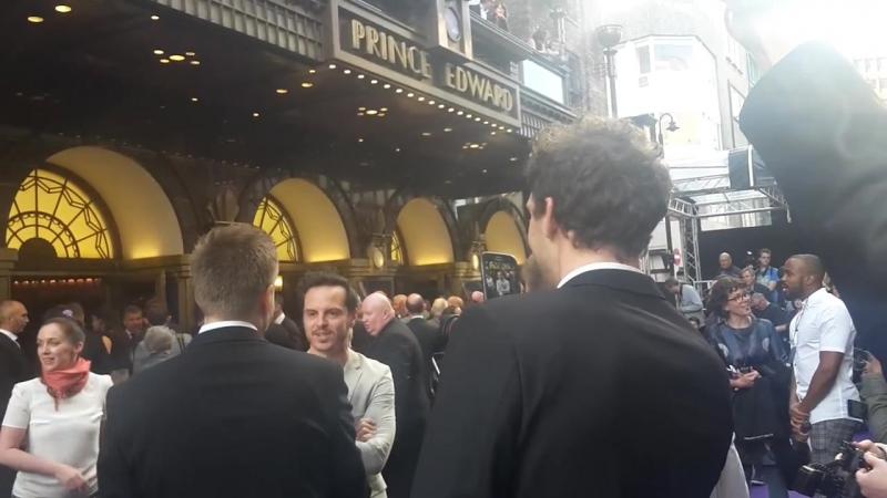 Andrew Scott at the Aladdin Press Night in London