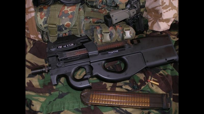 FN P90 — бельгийский пистолет-пулемёт (персональное оружие самообороны), разработанный в 1986—1987 годах фирмой FN Herstal