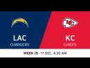 NFL2017 / W15 / Los Angeles Chargers - Kansas City Chiefs / CG / EN