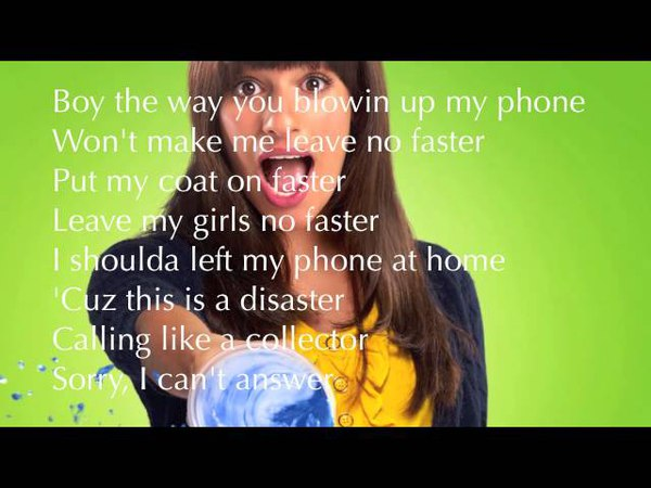 Glee Telephone with Lyrics NEW SONG
