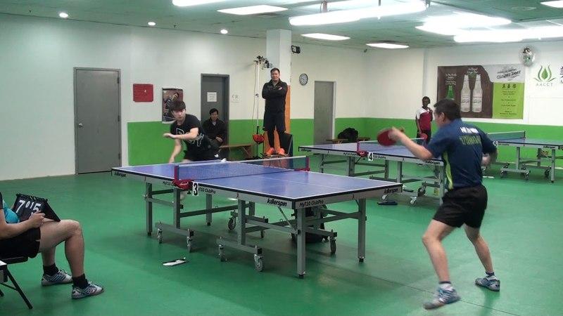20180107 AACCT Jan 2018 Open - HE Zhiwen vs Jiang Niu (OPEN SINGLES)
