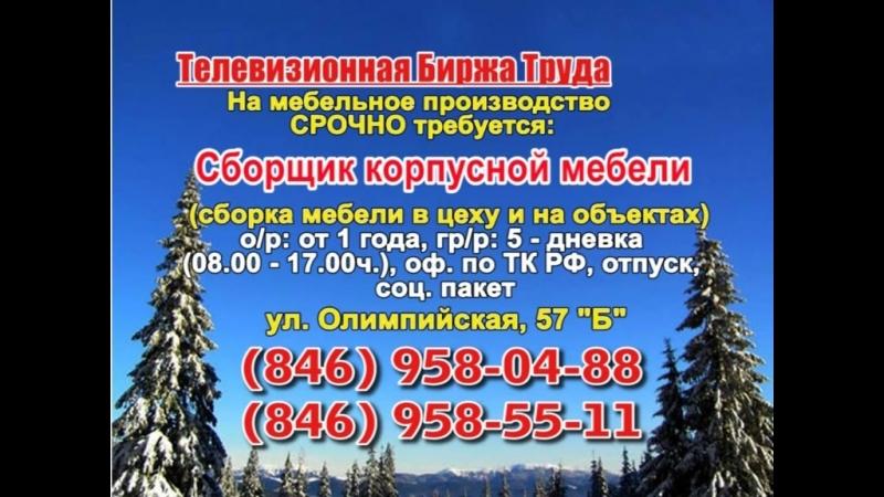 16 февраля _07.20, 12.50_Работа в Самаре_Телевизионная Биржа Труда