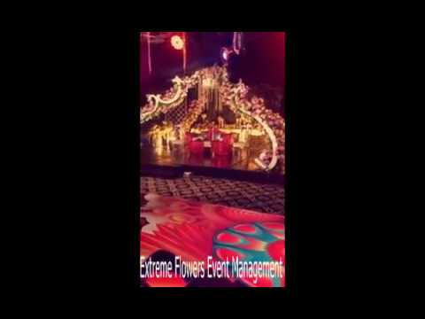 The one of best Mehndi Stage Dance Floor of Extreme Flowers Event Management you never seen before