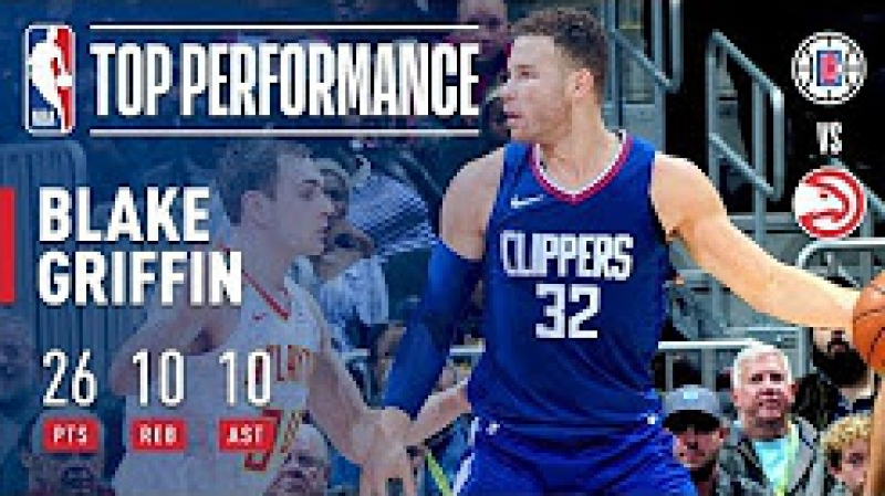 Blake Griffin Gets a Triple-Double (26_10_10) vs. Hawks November 22, 2017