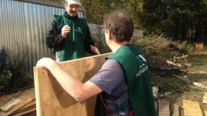 Волонтерская акция в Зоозащитном центре «Новый Ковчег». Фотографии