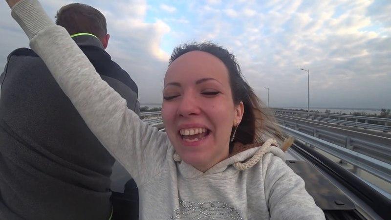 Первый УКРАИНЕЦ на крымском мосту. ОТКРЫТИЕ Крымского моста