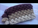 Crochet Celtic Weave Stitch Purse with zipper step by step tutorial