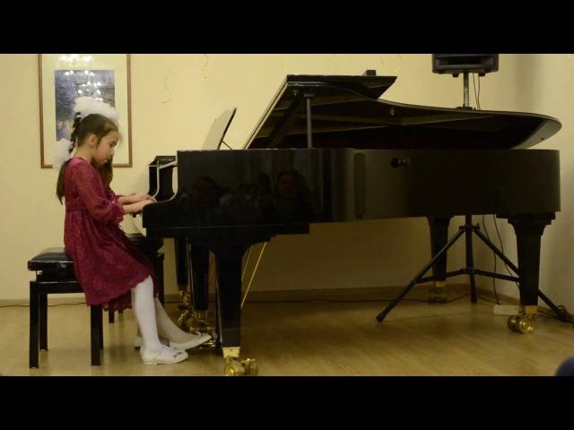 Пьесса на рояле в 4 руки Ох Сусанна Исполняют на рояле Избицкая Алиса и Сотскова Вика