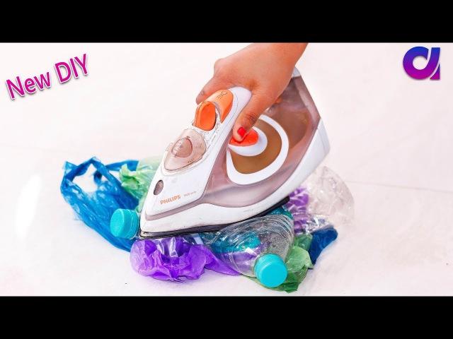 Old Plastic bag and Plastic Bottles reuse ideas   Best out of waste   Artkala 357