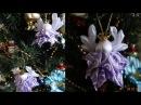 Мини Рождественский Ангел Канзаши/Mini Christmas Angel kanzashi