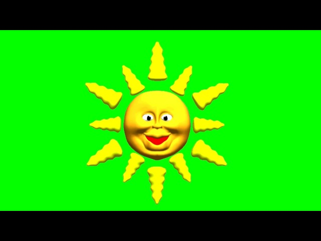 FREE GREEN SCREEN SUN ☯ CHROMA KEY ☯ ФУТАЖ ХРОМАКЕЙ СОЛНЦЕ ☛ yda4aTV