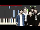 One Direction Drag Me Down Piano Tutorial karaoke Midi Cover Sheet Easy