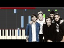 One Direction Drag Me Down Piano Tutorial karaoke Midi Cover Sheet Easy