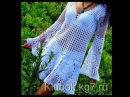 Vestido Saída de Praia Verão de Crochê 1ª Parte Médio