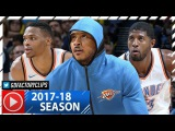 Russell Westbrook, Carmelo Anthony &amp Paul George Highlights vs Timberwolves (2017.10.22) - EPIC!
