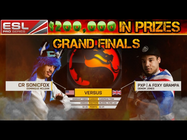 Mortal Kombat X | ESL Season 3 $200,000 Grand Finals | USA's Best vs Europes Best