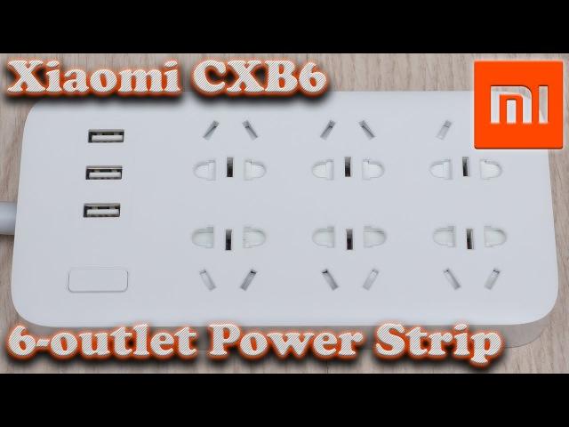 Удлинитель Xiaomi CXB6 - на 6 универсальных розеток и 3 USB