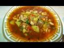 Постное овощное рагу с фасолью в горшочках, цыганка готовит.