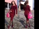 Бесплатный МК часть 1 облегающее платье спицами Марсала вяжем резинку