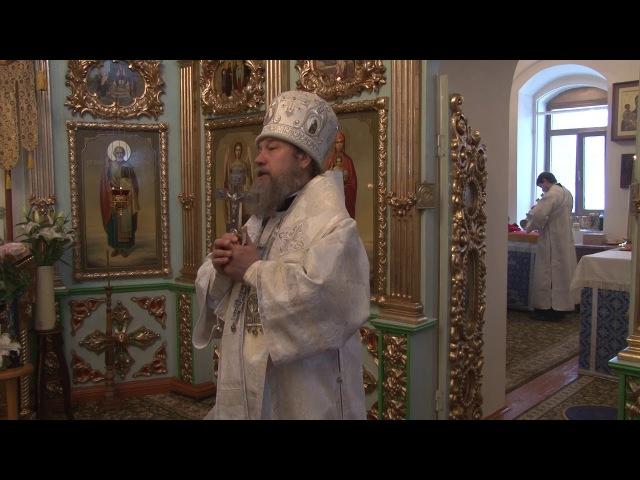 Проповедь епископа Максима на Литургии в Покровском храме села Паниковец