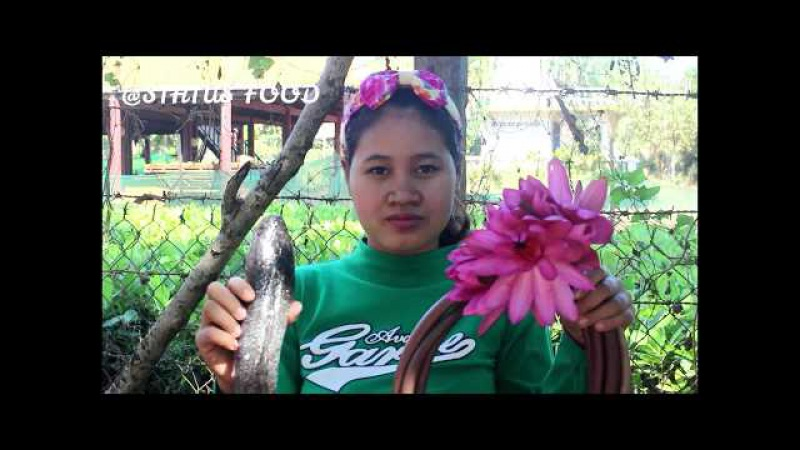 Awesome Cooking Water Lilies w Soup Fish Recipe - Cook Fish Recipes - Village Food Factory