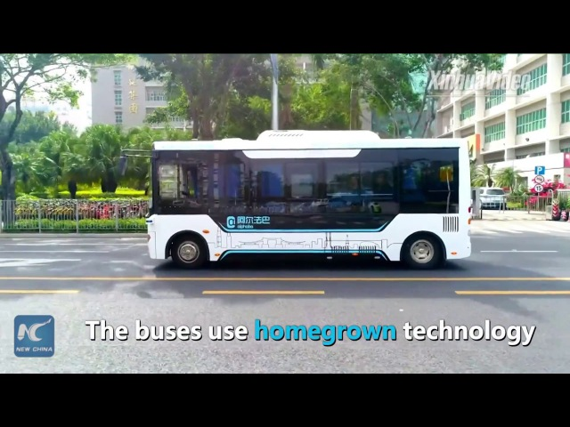 Self-driving buses hit the road in Chinas Shenzhen