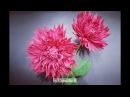 DIY - Paper Dahlia flower from crepe paper-Flor Dahlia de papel crepé- Hoa thược dược giấy nhún