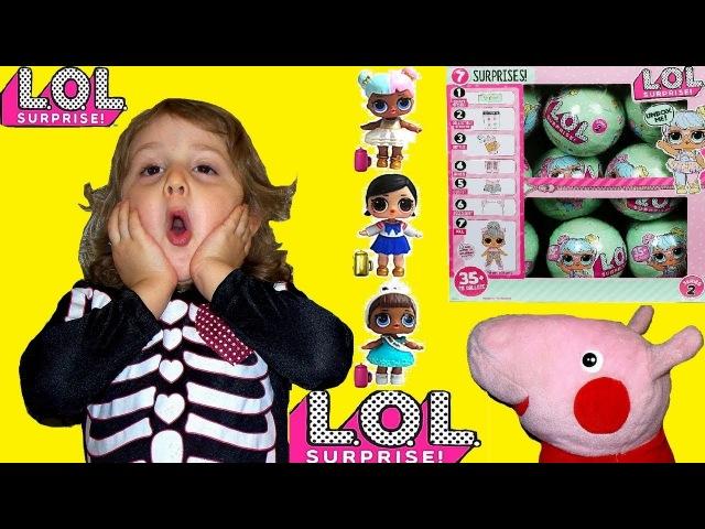 СВИНКА ПЕППА распаковывает СЮРПРИЗЫ ЛОЛ Куклы LOL Оригинал или Китайская ПОДДЕЛКА