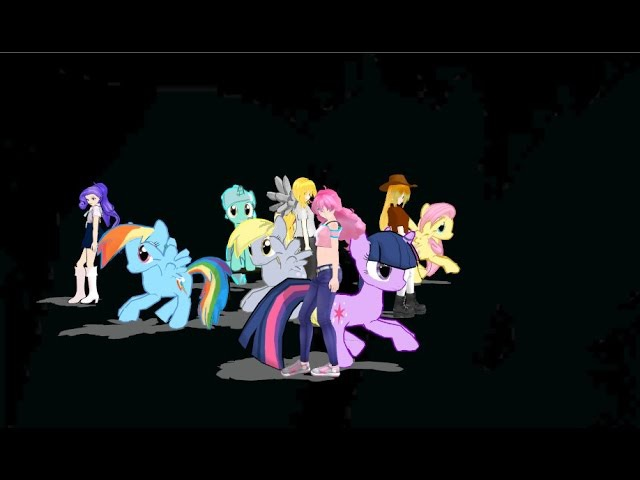 Bad Apple - My little pony [MMD]