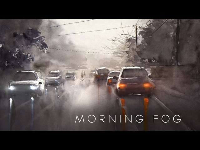 Quickie: Wet on wet painting - Morning Fog