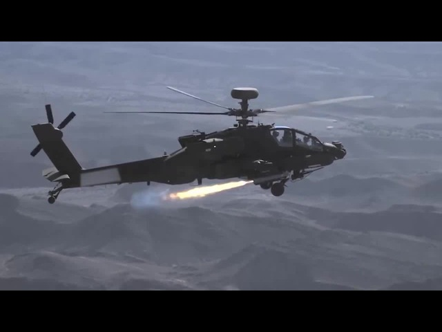 Brimstone missile on Boeing Apache AH 64E the real first shot