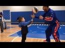 Deaf Boy Surprised by Globetrotter and Mavericks Drumline
