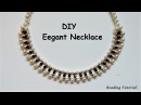How to make a beaded necklace Easy beading tutorial Last minute DIY NECKLACE