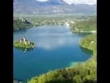 Озеро Блед в Словении После поездки на лодке обед был «форель»,