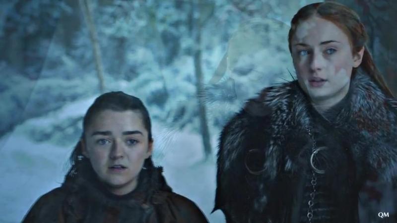 Sansa Arya    We're still here [7x04]