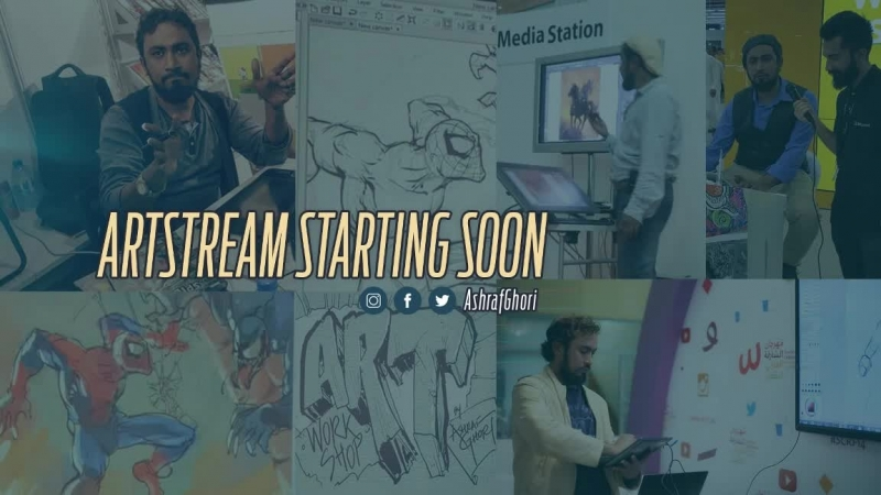 Making a comic page - Artstream with Ashraf Ghori