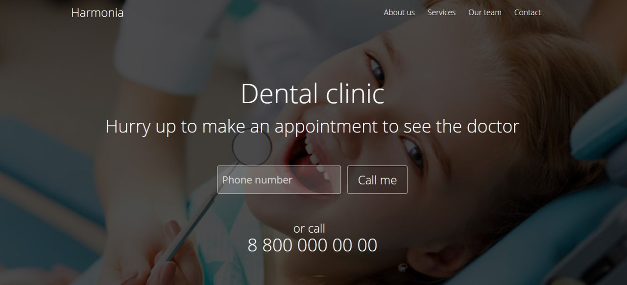 Dental clinic Landing Page Tutorial