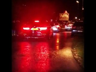 Gotta love a night-time police escort !!! Merci La Gendarmerie !