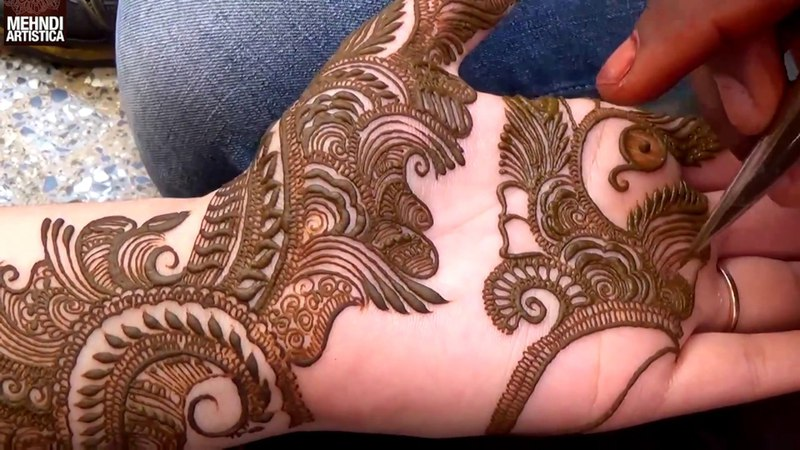 Step by Step Latest Mehndi Design For Hand 2017 1000