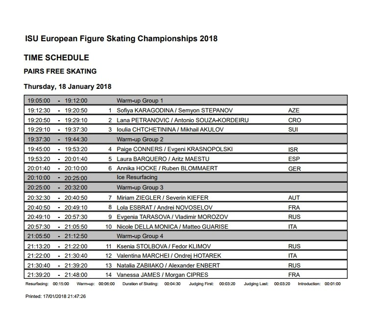 Чемпионат Европы-2018 (Jan 15 - Jan 21, 2018  Moscow /RUS) CZgXd5ADBRQ