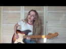 Stevie Ray Vaughan - Scuttle Buttin guitar cover by Yana