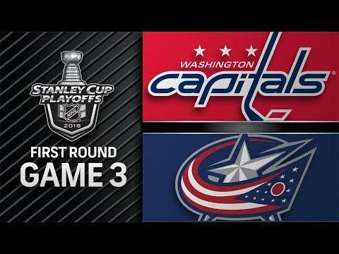 Washington Capitals vs Columbus Blue Jackets – Apr. 17, 2018   Game 3   Stanley Cup 2018. Обзор